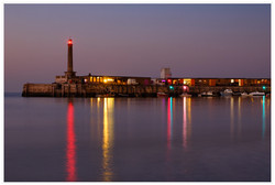 MARGATE HARBOUR AT NIGHT by Chris Reynolds