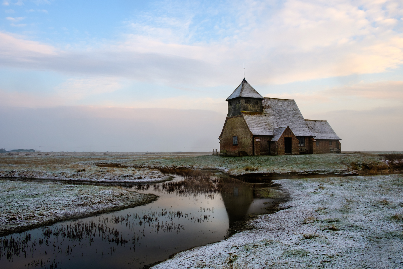 WINTER MORNING AT FAIRFIELD CHURCH by Jenny Monk