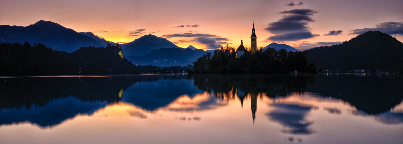 SUNSET LAKE BLED by Chris Reynolds