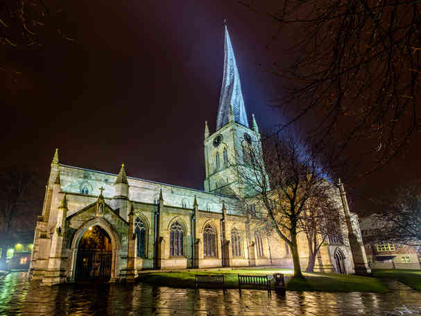 CROOKED SPIRE BY NIGHT by Charlie Emery.