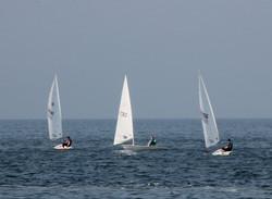 Three at sea by Kim Read