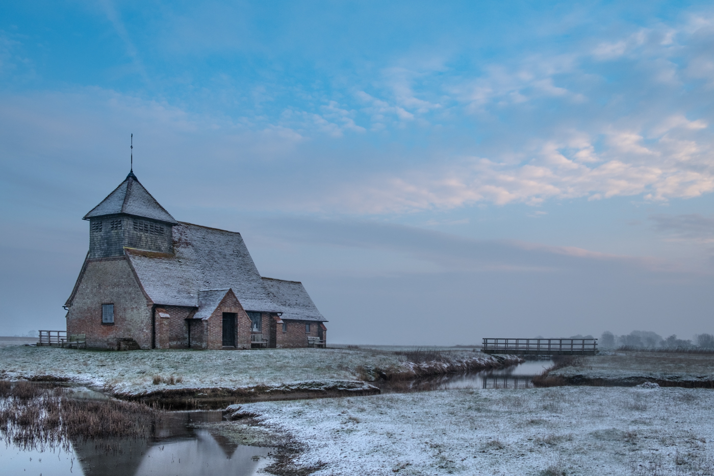 FAIRFIELD CHURCH ON A SNOWY DAY by Chris Reynolds