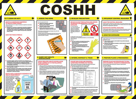 CLICK MEDICAL COSHH POSTER A704
