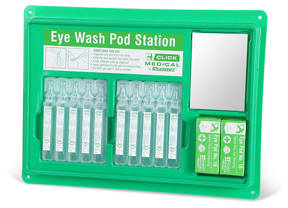 CLICK MEDICAL EYEWASH POD STATION (10X20ml)