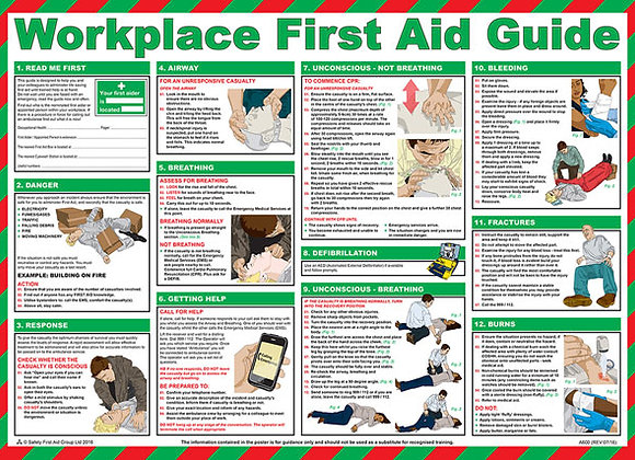 CLICK MEDICAL WORKPLACE FIRST AID POSTER A600