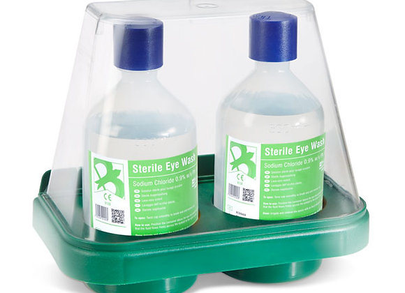 CLICK MEDICAL DOUBLE EYEWASH STAND WITH 2 x 500ml