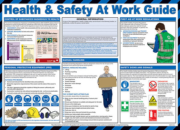 CLICK MEDICAL HEALTH AND SAFETY AT WORK POSTER A607