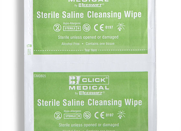 CLICK MEDICAL STERILE SALINE WIPES