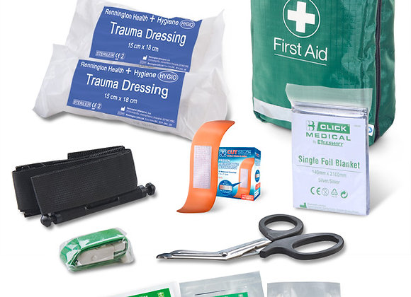 BS8599-1:2019 CRITICAL INJURY PACK HIGH RISK IN BAG