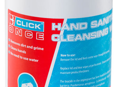 CLICK ONCE HAND SAN CLNS WIPE (200 SHEETS)