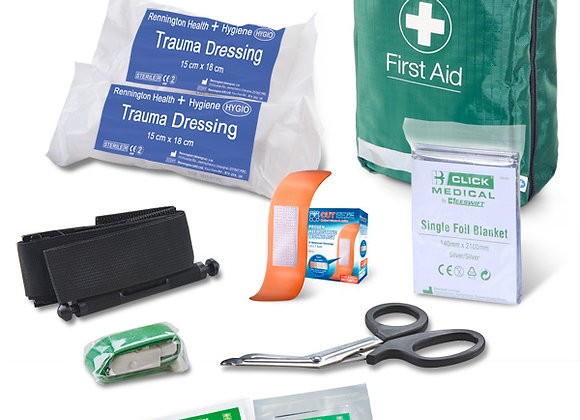BS8599-1:2019 CRITICAL INJURY PACK MEDIUM RISK IN BAG