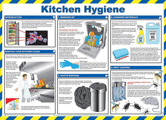 CLICK MEDICAL KITCHEN HYGIENE POSTER A780