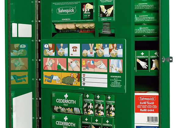 CEDERROTH FIRST AID CABINET DOUBLE DOOR