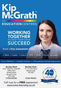 Kip Mcgrath advert featuring image of teenager in school uniform and information