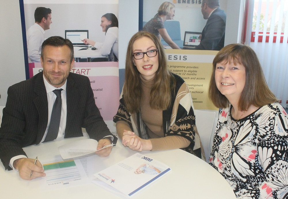 Image of BBIC Open Day James Herbert with Victoria Price and Jacqui Price