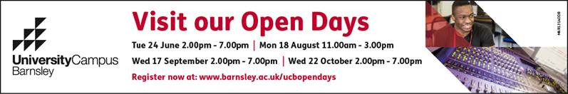 Banner for University Campus Barnsley and Link to site