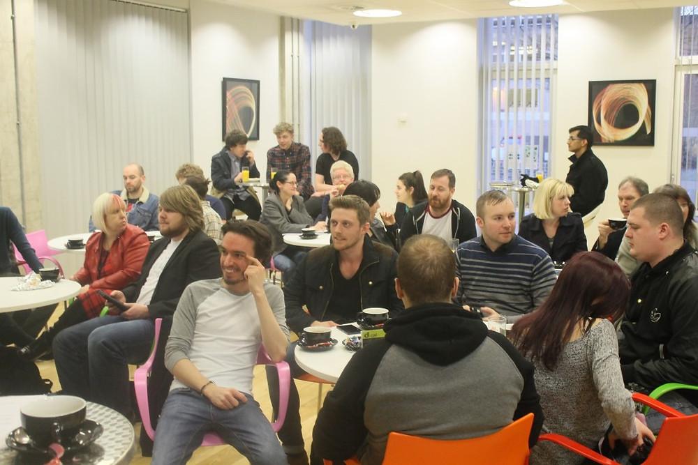 Photo of Attendees at music seminar network