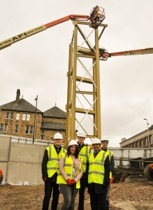 Image of Sixth Form College steelwork erection
