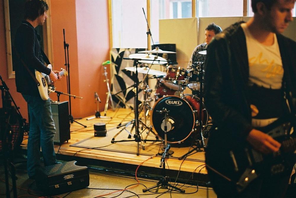 Image of band rehearsing