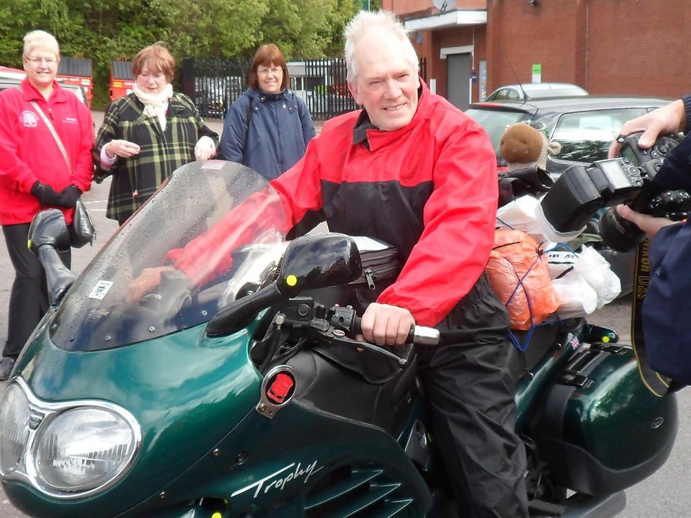 Image of Bob on his bike
