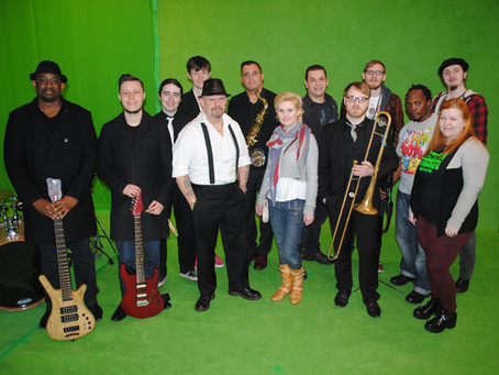 Film Star Records Music Video With Students