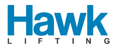 Logo for Hawk Lifting and link to their website