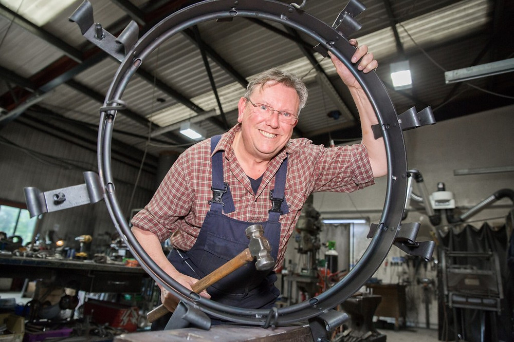 Image of Nigel Tyas, Company Director of Nigel Tyas Ironworks in Millhouse Green and link to website