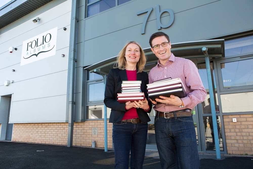 Image of Julie and Stewart Randall at Folio Albums