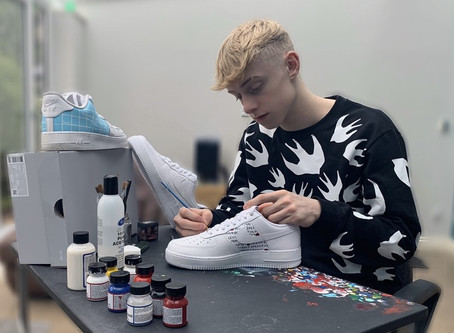College Student Puts Best Foot Forward