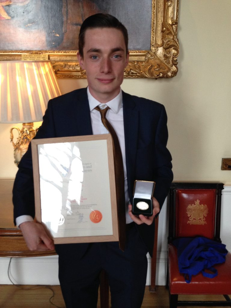 Photo of Morgan Chambers with his E & R Fuller award