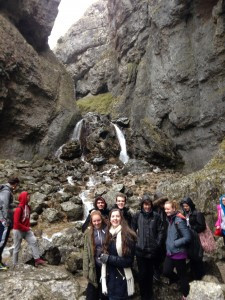 Picture of students at Gordale Scar