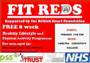 Flyer advert for fit reds