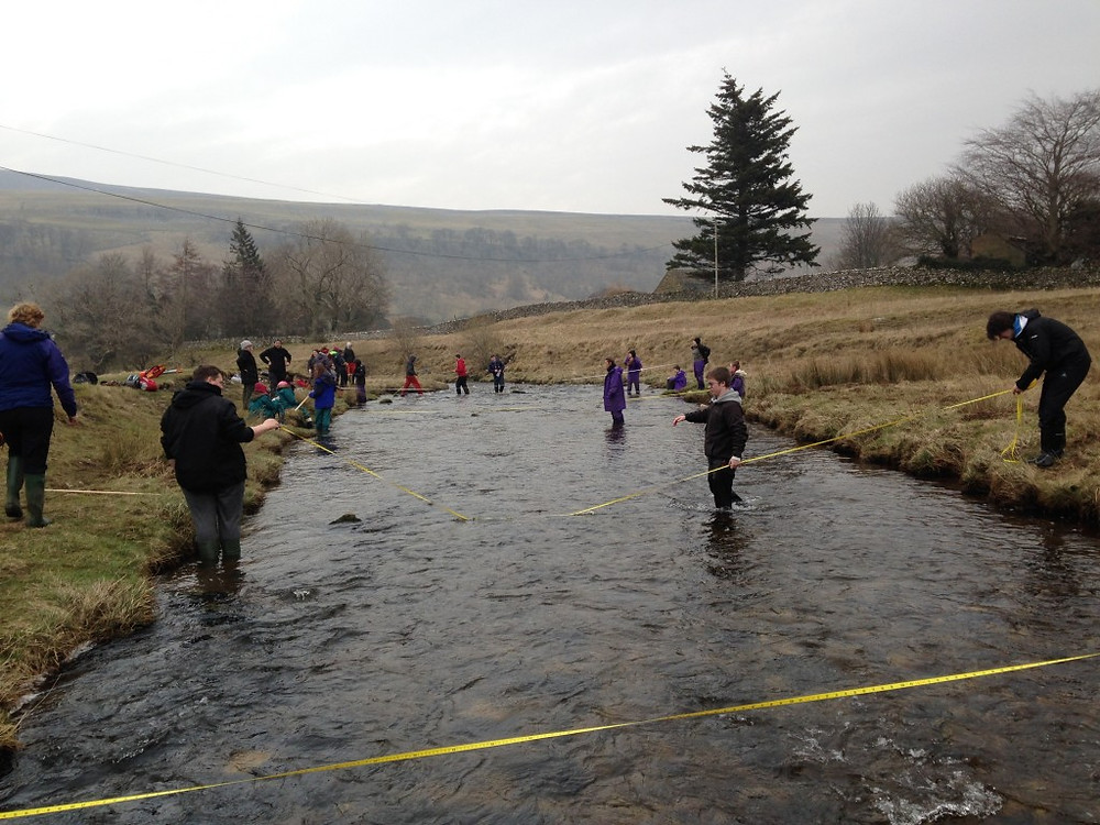 Picture of students at Cowside Beck