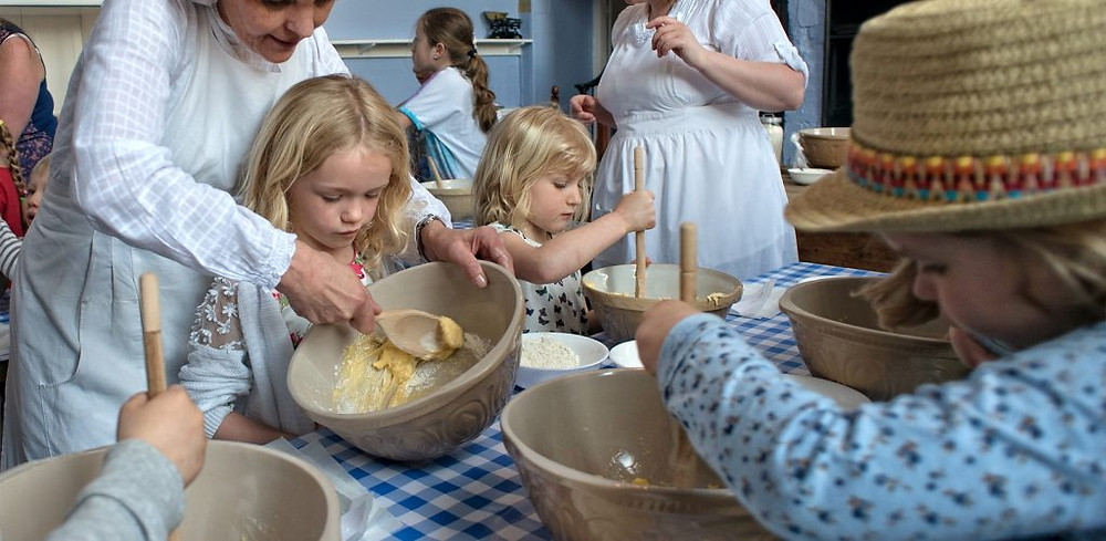 Kids baking at Cannon Hall
