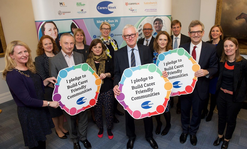 Minister, Norman Lamb, and Care Workers promoting care week