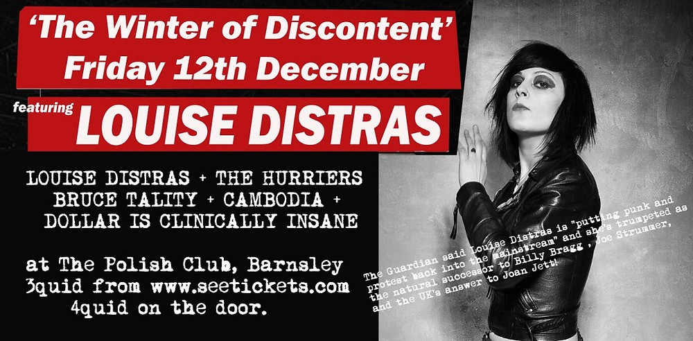Promo banner for LOUISE DISTRAS