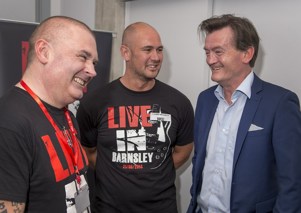 Picture ofDave and Craig with Feargal Sharkey
