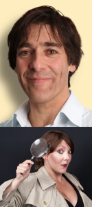 Images of Mark Steel and Sophie Willan