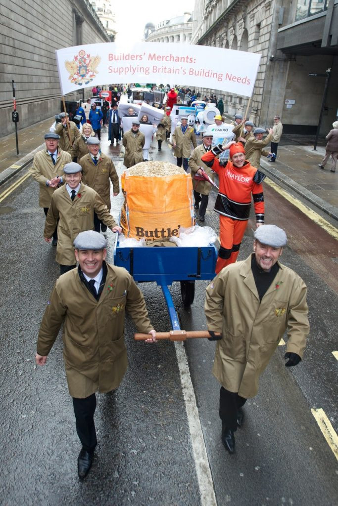 Image of Naylor staff with float at London Mayor's parade