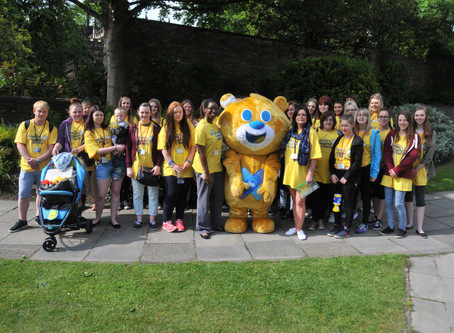 Students' charity walk for children's service