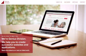 Image of Genius Division Website