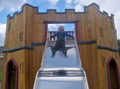 Image of child on a slide for children's activities at Wentworth Castle