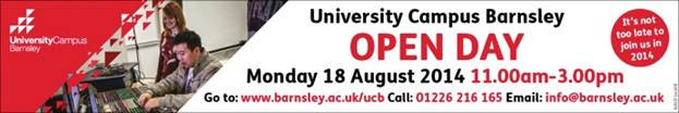 Banner / link for enrolment at Barnsley College