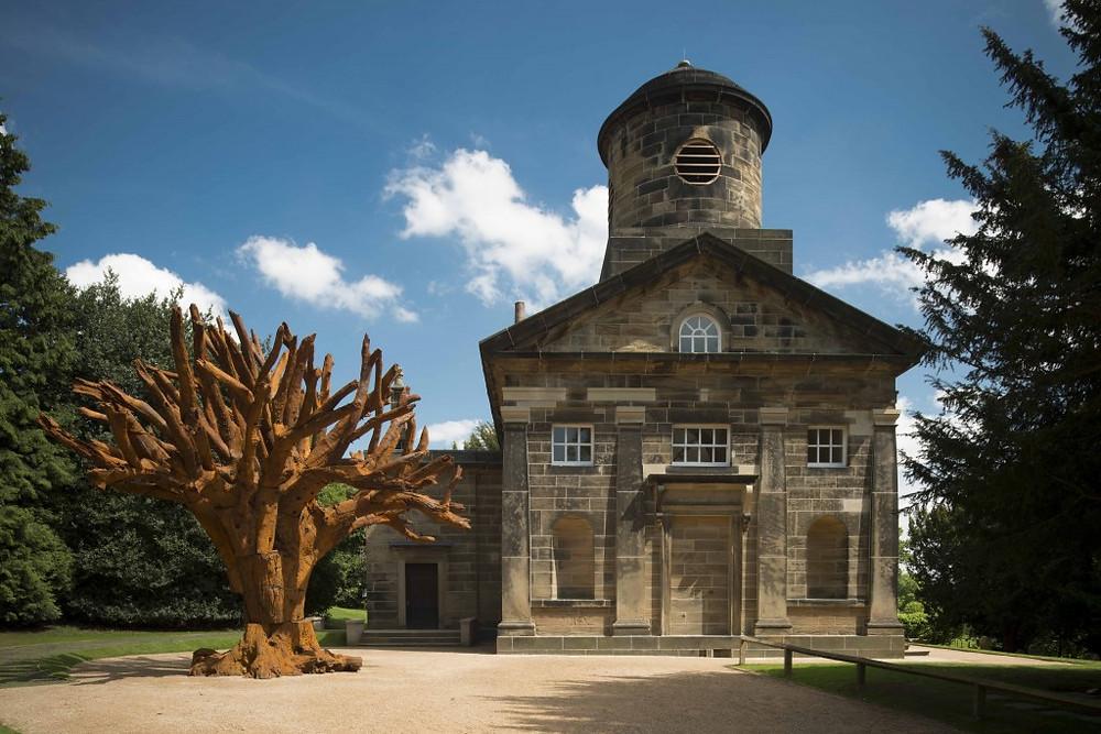 Photo of Ai Weiwei, Iron Tree, 2013. Courtesy Yorkshire Sculpture Park
