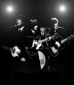 Publicity shot of The Upbeat Beatles performing live