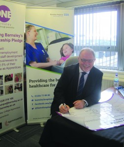 Picture: Barnsley Hospital Signs the Apprenticeship Pledge
