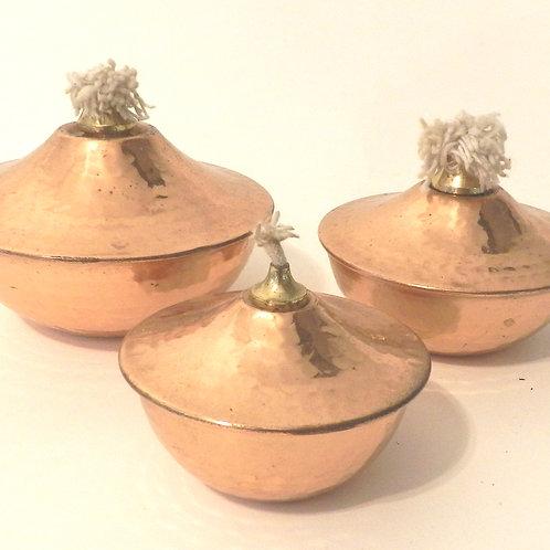 Hammered Copper Fireburners