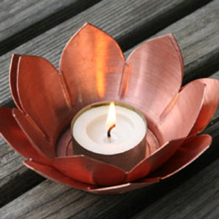 Double Lotus Tea Light Holder