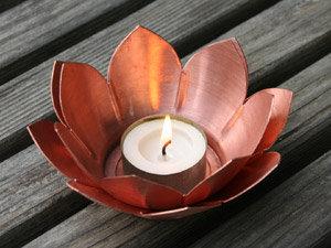 Double Lotus Tea Light