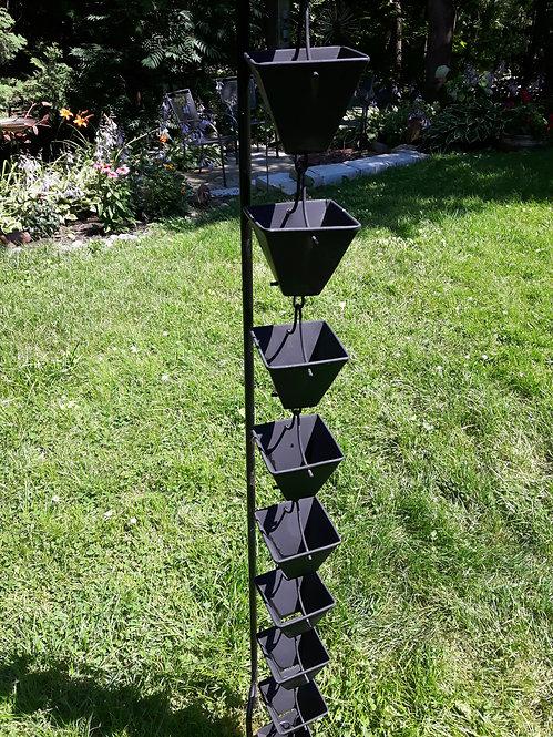 Medium Square Cups Black (12' USED)